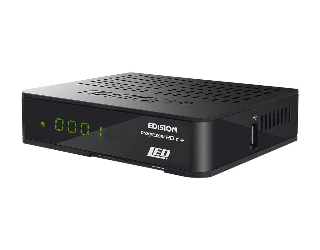 Edision Progressiv HDC + Nano Plus - Receptor de satélite LED Full HD (HDMI,