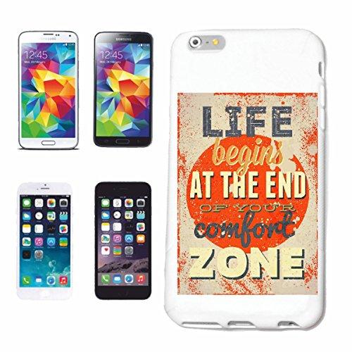 """cas de téléphone iPhone 7+ Plus """"VIE COMMENCE À LA FIN DE VOTRE COMFORT ZONE VINTAGE RETRO VINTAGE LIFESTYLE FASHION GOTHIC BIKER STREETWEAR PARIS MILAN NEW YORK"""" Hard Case Cover Téléphone Covers Smar"""