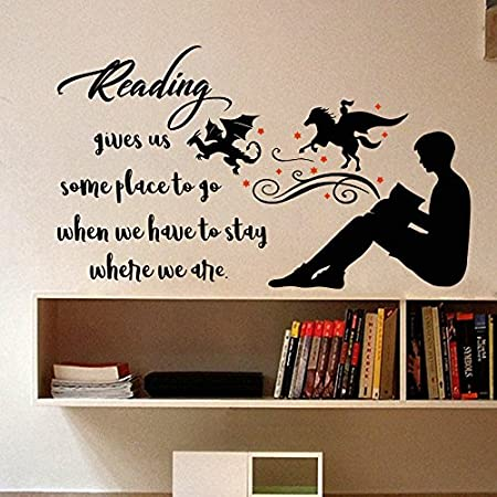 Dr Seuss The More You Read Quote Childrens Room Kids Room Playroom Nursery Wall Sticker Wall Art Vinyl Wall Decal Wall Mural for Reading Corner//Classroom