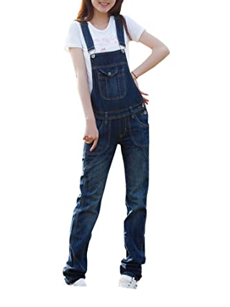 554dd1a756 MISSMAO Ladies Womens Regular Fit Denim Dungarees Casual Jeans Pants  Jumpsuits Value Overalls 2XL  Amazon.co.uk  Clothing