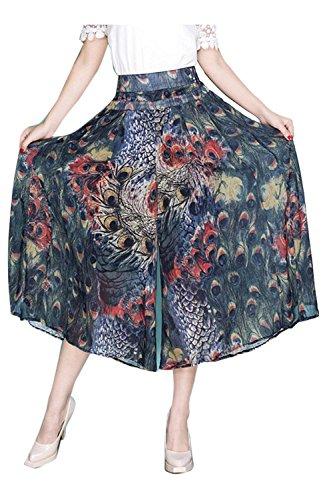Saoye Fashion Pantalon Jupe Femme Elgante Et Taille Haute Imprim Pantalon Large Bouffant Loisir Mode Fille Vtements Confortable Jupe Pantalon Pantalons Palazzo Colour-7