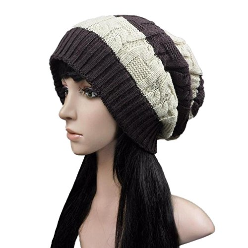 ISEYMI Women's Solid Color Knitted Beanie Hat Winter Warm Skullies Cap