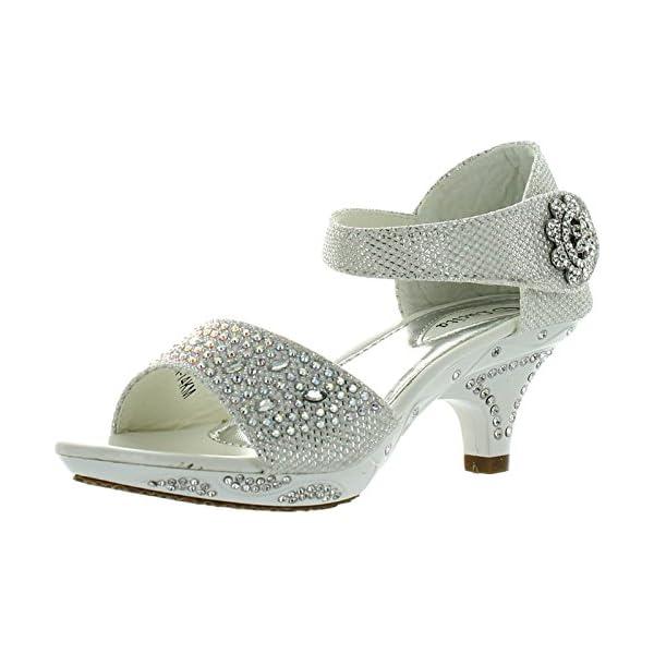 54a965a0d5ba Lucita Jan 14Km Little Girls Rhinestone Heel Platform Dress Sandals