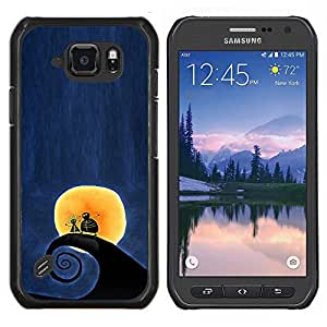 Stuss Case / Funda Carcasa protectora - Surf Surf Wave Luna Blue Night - Samsung Galaxy S6Active Active G890A