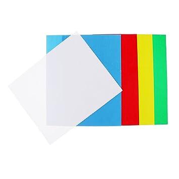 Dolity Textilfolie,5 Blatt Transferpapier Transferfolie in 5 Farben ...
