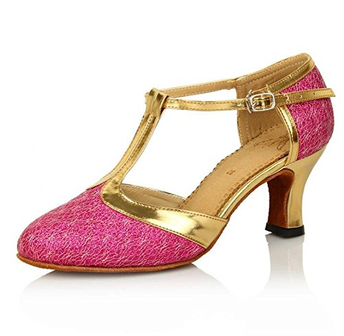 Salsa A40 36 Blanda De Genuina Taogo Piel Zapatos Pink Tamaño Salón Mujer Baile Latín Suela OzqSpw7