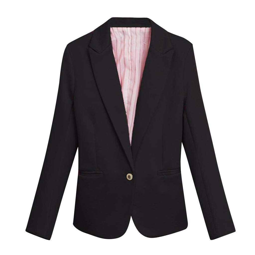 WUSIKY Blazer Damen Strickjacke Bolero D/ünne Jacken Casual Einfarbig Long-Sleeved Button Slim Fit Cardigan Mantel