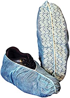 AMMEX - BOOTIES-XL - Shoe Covers, Spun-bond Polypropylene, Rubberized Tread, XLarge (Fits Mens 11+), Blue (Case of 300)