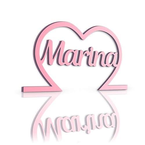 Nombres Decorativos con Corazón 30 x 16.5 x 1.3 cm, Nombres ...