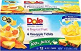 Dole 100% Juice Variety Pack, Pineapple and Tropical Fruit, 4 oz (12 cups)