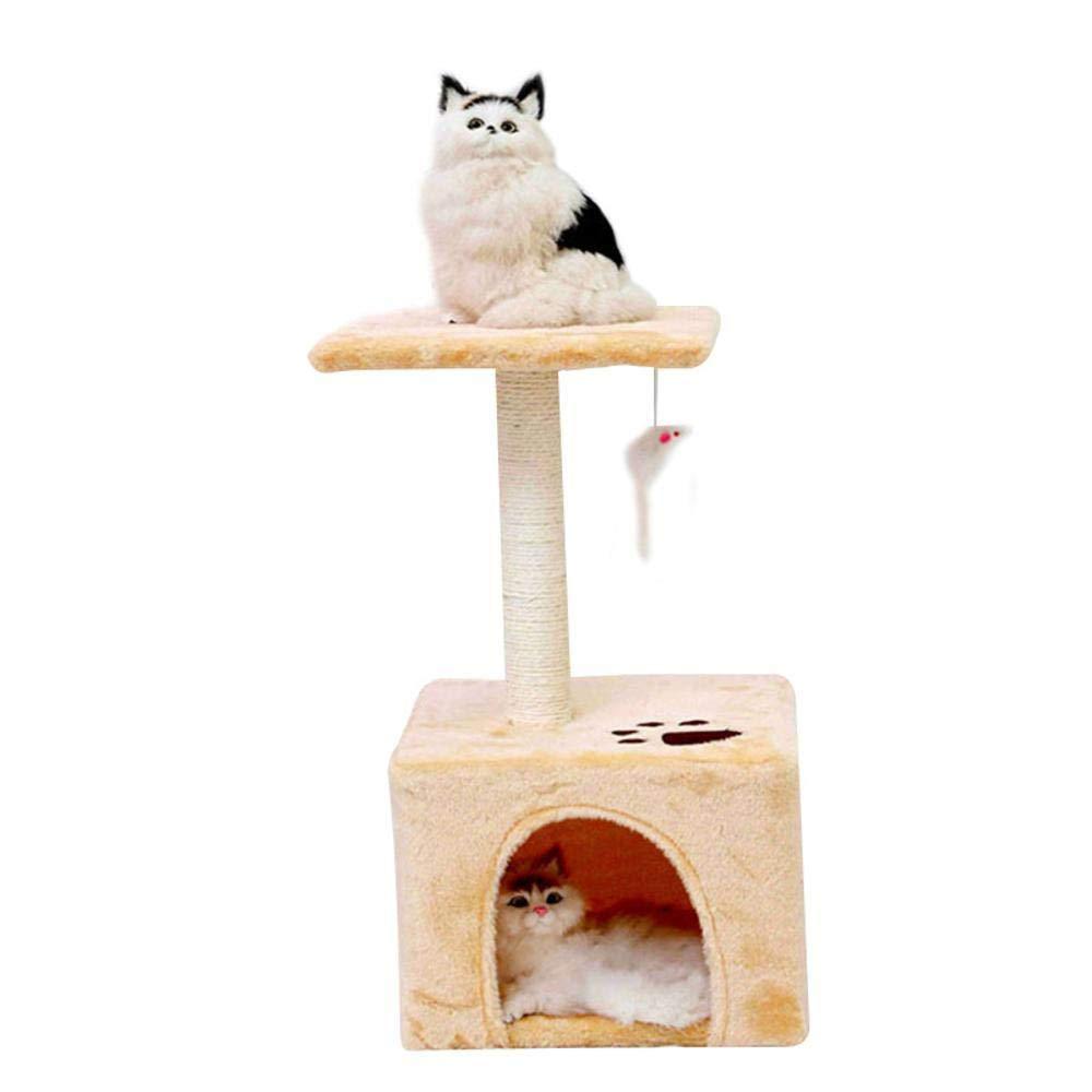 Hexiansheng Cat Climb Trees Nest Cat Cat Scratch Board cat Toy sisal Pet Toy Plush 30  30  60cm