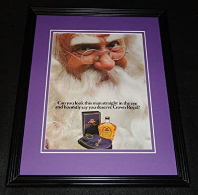 1985 Crown Royal Whisky Santa Claus Framed 11x14 ORIGINAL Advertisement