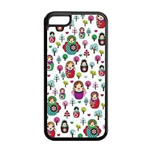 5C Phone Cases, Russian Dolls Hard TPU Rubber Cover Case for iPhone 5C