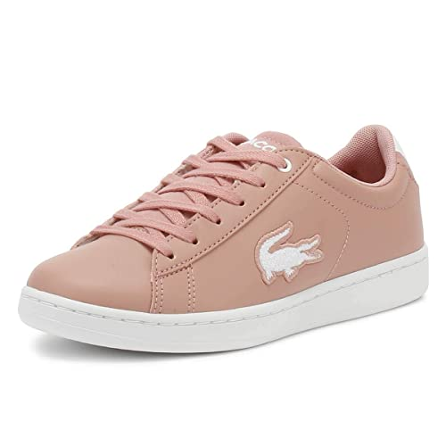 84ec78097 Lacoste Carnaby Evo 418 3 Pink/White Synthetic Youth Sneakers ...