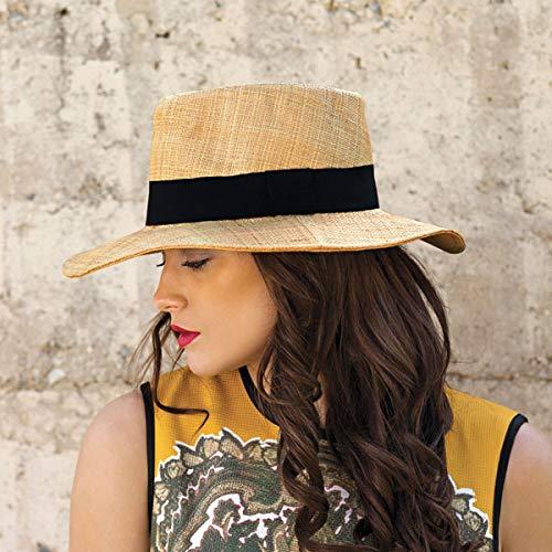 Wallaroo Hat Company Women's Morgan Fedora - Natural - UPF 50+, Modern Style by Wallaroo Hat Company (Image #5)