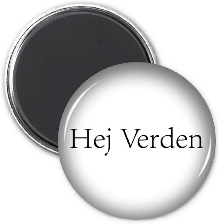 Hello World Danish Refrigerator Magnet Sticker Decoration Badge Gift