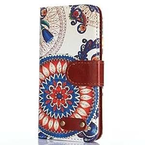 YULIN girasol patrón de caracteres de buey caso retro de cuero de la PU para el iPhone 6 Plus