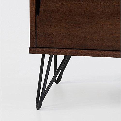 ModHaus Living Mid Century Modern Wooden Bookshelf Media Console Cabinet with Hairpin Legs - Includes Pen by ModHaus Living (Image #6)