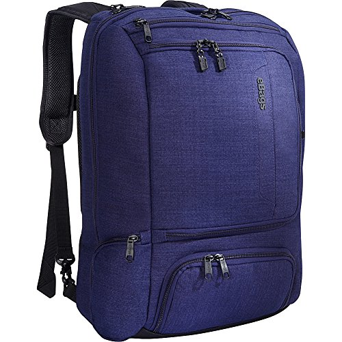 eBags Professional Weekender Carry-On Backpack Fits 18 Inch Laptop for Travel & Business - TSA Friendly - (Brushed Indigo)