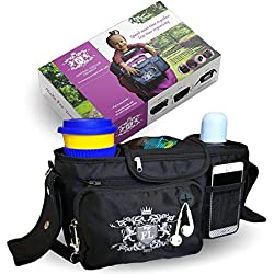 my FL Universal Baby Stroller Organizer Bottle Cloth Diapers Holder Hanging Storage Bag (Black)