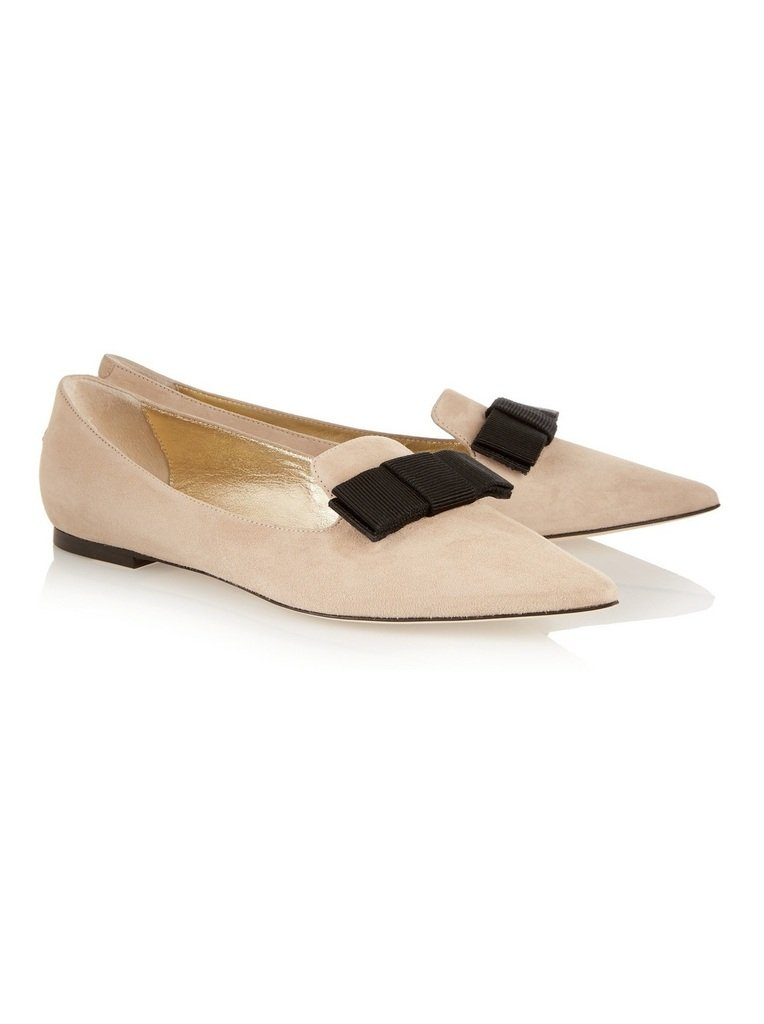 Aibarbie Women's Galala Patent-leather Point-toe Flats Office Off-duty Flats Shoes Grosgrain Bow Shoes B016XPIY8K 11 B(M) US|Nude