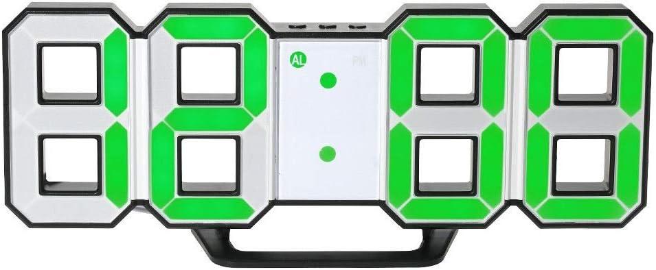 CAOMING 2020 Nueva Alarma LED Digital, Reloj De Pared Estéreos, Reloj Digital USB, Modo Nocturno Ajuste (18: 00-06: 00) For El Ministerio del Interior (Color : B)