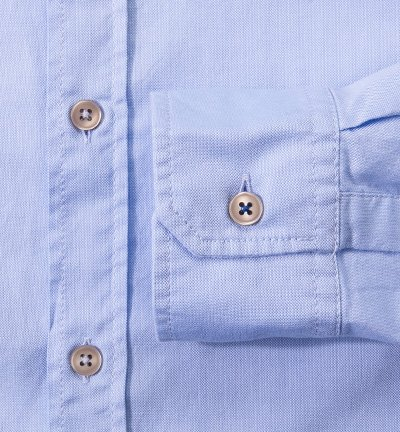 JOOP! Herren Hemd Baumwolle Oberhemd Meliert, Größe: S, Farbe: Blau