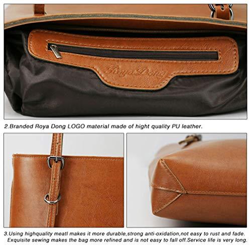 Donna Messenger Pu In Pelle Bag Borsa Borse Black Borse Grande Tote Per Vintage 25X35X7Cm Gray Laoling Tracolla Donna A Borse wZ64YF