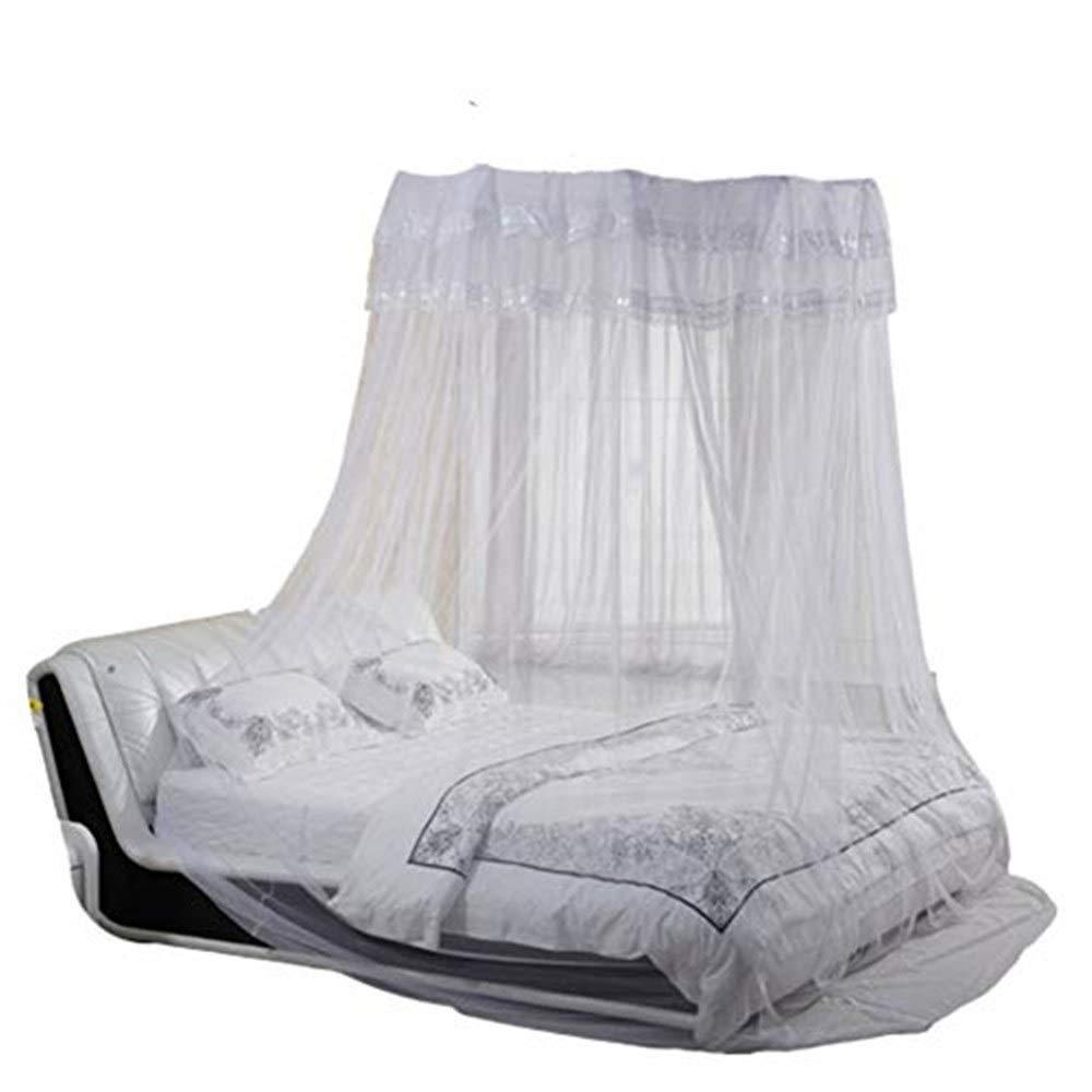 蚊帳キャノピーベッドベッドキャノピー&ドレープ 円形天井灰色2クイーンサイズベッド2台蚊帳 蚊帳   B07RPNL8ZK
