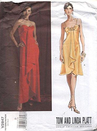 Vogue 2847 Tom and Linda Platt Evening Formal Dress Sewing Pattern (Vogue Prom Dress Patterns)