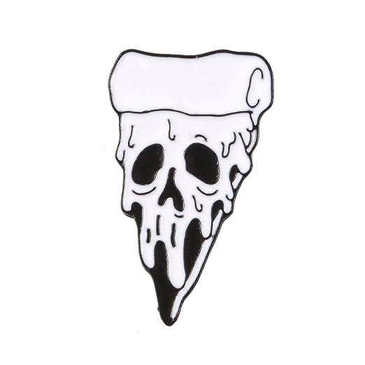 HYLIWI Broche Rosa Flores Ninja Skull Pins Café Flor Pizza ...