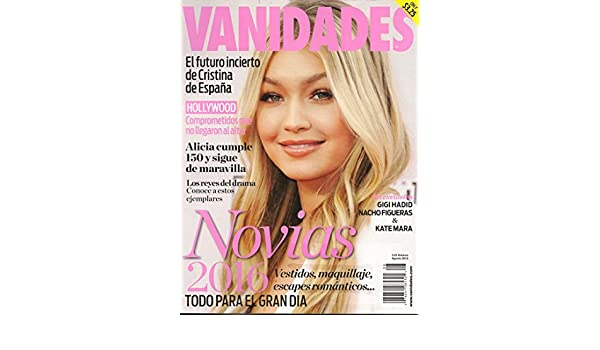 Amazon.com : Vanidades magazine - Agosto 2015 - August 2015 -(In Spanish) Novias 2016 + Kate Mara : Everything Else