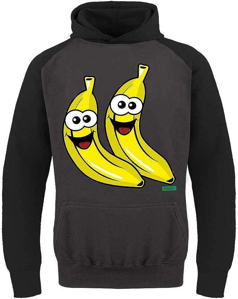 Hariz Niños Baseball Hoodie Bananen Lachend Frutas Verano