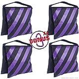 AbcCanopy SANDBAG SADDLEBAG DESIGN 4 WEIGHT BAGS FOR PHOTO VIDEO STUDIO STAND (purple)