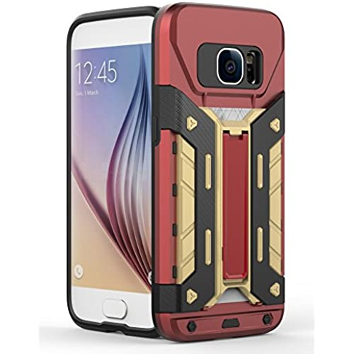S7 Case,Galaxy S7 Case,ARMORCOO(TM) Heavy Duty Shock Absorbing Hybrid Rugged with One Built-in Card Slot Protective Kickstand Hard Case Sales