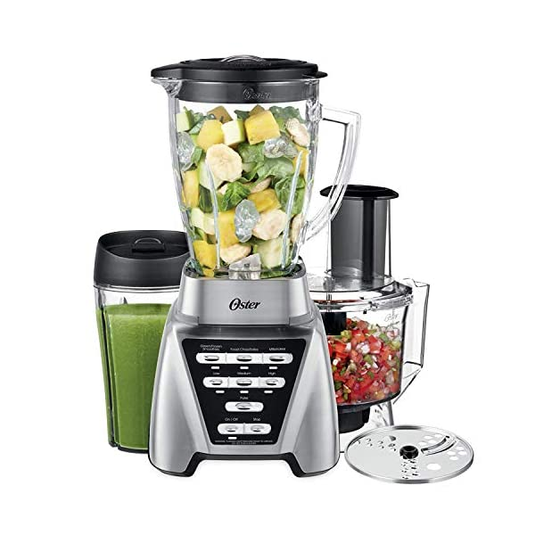 Oster Blender | Pro 1200 with Glass Jar, 24-Ounce Smoothie Cup and Food Processor...