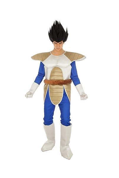 Disfraz de Dragon Ball Vegeta 6tlg Azul Beige - S: Amazon.es ...