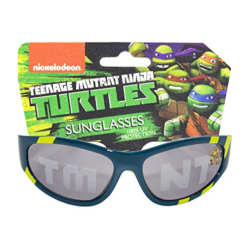 Nickelodeon Teenage Mutant Ninja Turtles Kids Children Boys Sunglasses with 100% UV Protection Dark Blue and - Glasses Kids Cooling