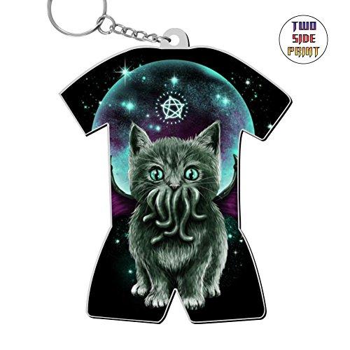 Keychain Cosmic Purrrcraft Keyring World Cup Polo Shirt Logo Key Ring Key Fob Alloy Nice Cute Gift ()