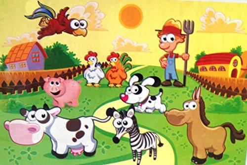 [Toys Educational Leaning preschool Cartoon Jigsaw Puzzle (Cow)] (Star Wars Kids Costumes Diy)