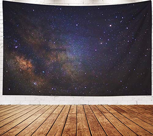 Yecationy Beach Tapestry, Tapestry Psychedelic Tapestry 80x60 Inch Milky Way Galaxy Long Exposure Photograph Grain Tapestry Wall Hanging Living Room Decoration Tapestries