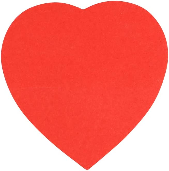 Eagle Cute Die-Cut Heart Shaped Sticky Notes 100 Sheets Per Pack Red Red Pack of 1
