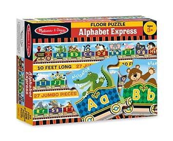 Amazoncom Melissa Doug Alphabet Express Jumbo Jigsaw Floor - Melissa and doug floor puzzle