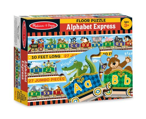 Melissa & Doug Alphabet Express Jumbo Jigsaw Floor Puzzle (27 pcs, 10 feet long) (Abc Floor Puzzle)