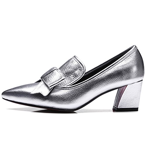 Nine SevenLoafer Shoes - Sandalias con cuña mujer leather-silver