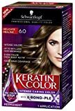 Schwarzkopf Keratin Color Anti-Age Hair Color Cream, 6.0 Delicate Praline (Packaging May Vary)