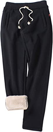 Jenkoon Active Basic Fleece Sweatpants Open Bottom Jogger Pant with Pockets