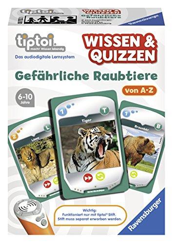 Ravensburger 00752 - tiptoi Spiel Wissen & Quizzen: Gefährliche Raubtiere