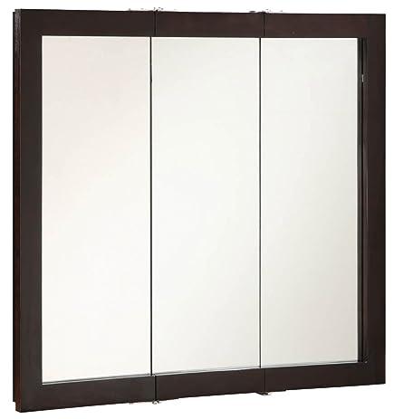 design house ventura triview medicine cabinet espresso 36inch by