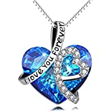 AOBOCO Heart Necklace 925 Sterling Silver I...